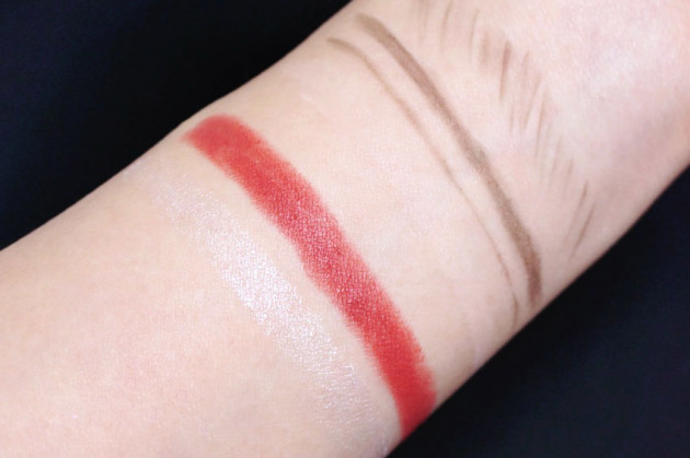 Make Up For Ever rosewood lip matte swatch review brow