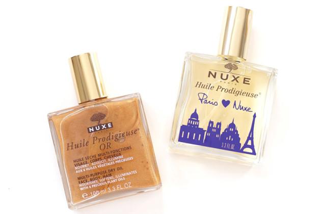Nuxe Huille Prodigieuse range review photos swatches
