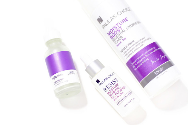 Purple skin care for anti ageing hydration