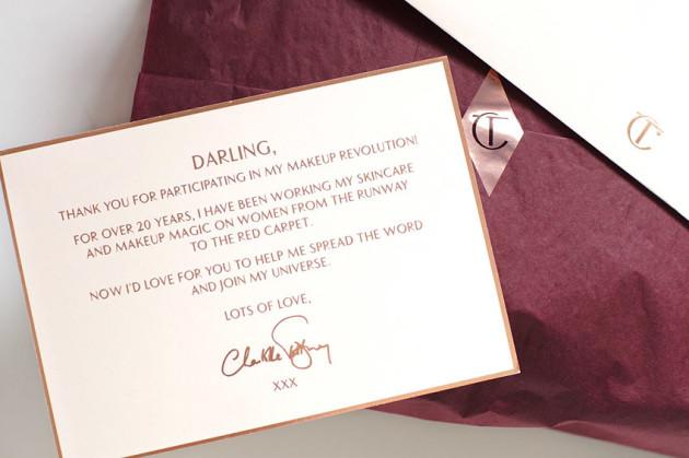 Charlotte Tilbury order packaging