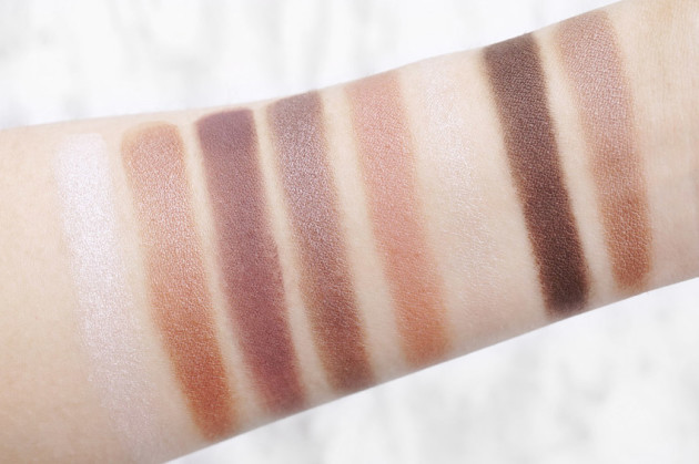 Clarins Rosewood swatches old vs new eye quartet palette