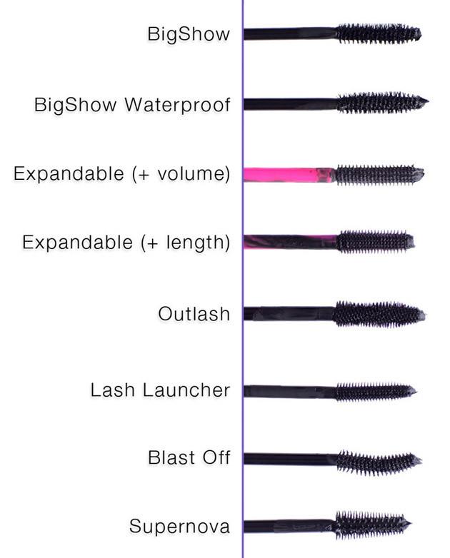 Annabelle mascara wands - bigshow, expandable, outlash, lash launcher