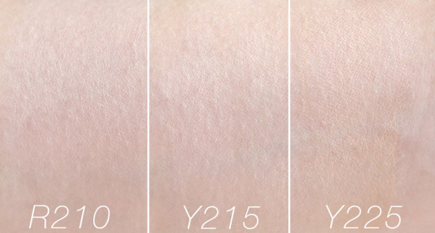 make-up-for-ever-water-blend-swatches-r210-y215-y225