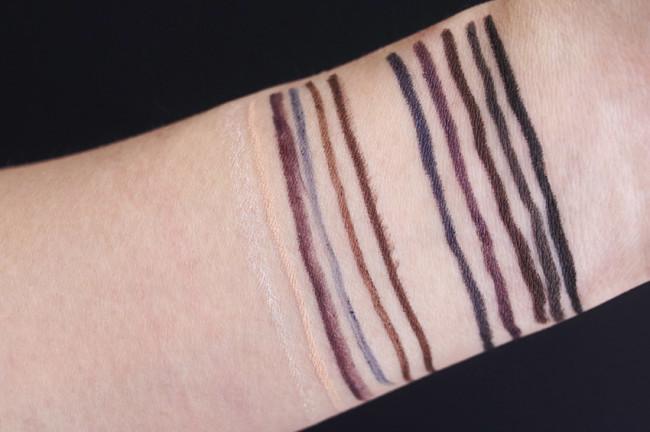 Marcelle Velvet Gel Eyeliner, Kohl Eyeliner lipstick swatches, review