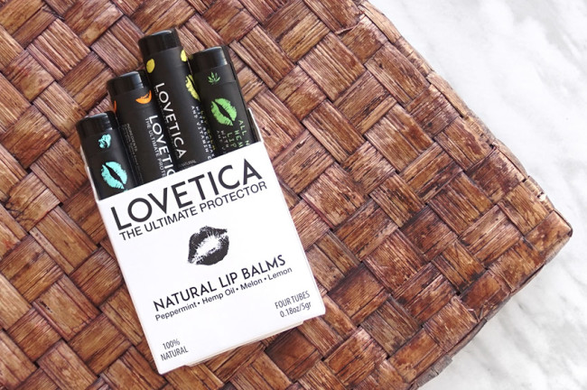Lovetica Hemp Oil lip balm set review