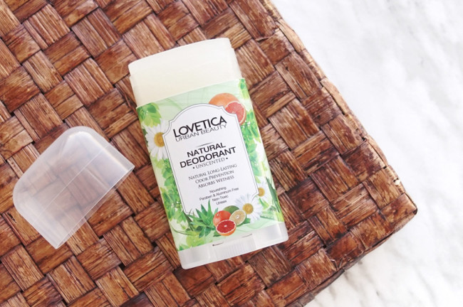 Lovetica deodorant review unscented photos compariison
