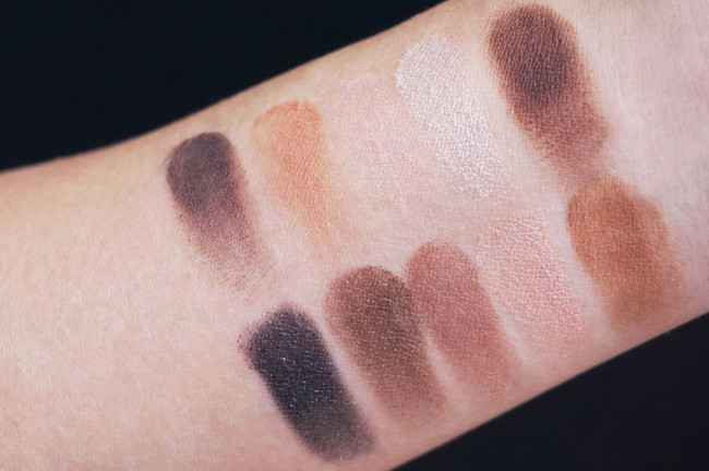 Annabelle eye and brow palette swatches