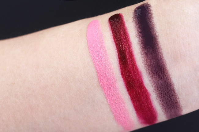 Make up for ever Acrylip 200, 501, 600 swatches