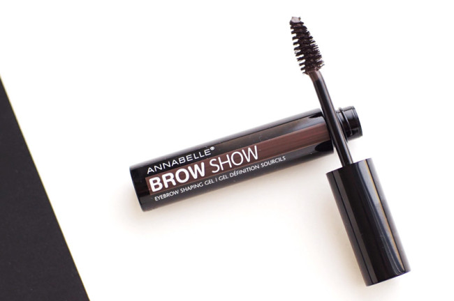 Annabelle BrowShow gel medium dark review swatches