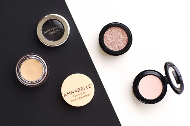 Annabelle chrome eyeshadow rose gold review swatches