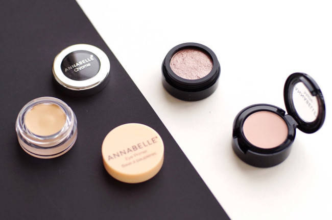 Annabelle eye primer beige, matte eyeshadow pink lemond review
