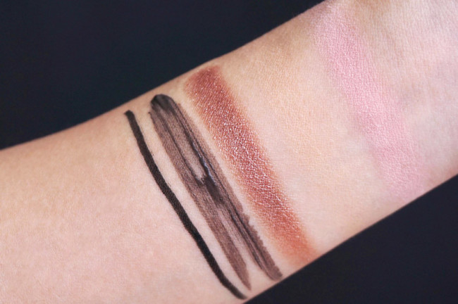 annabelle rose gold, pink lemond swatches review