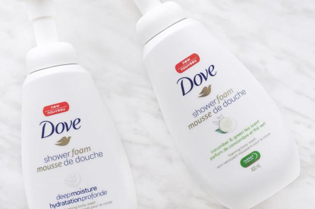 Dove shower foam cucumber green tea scent review