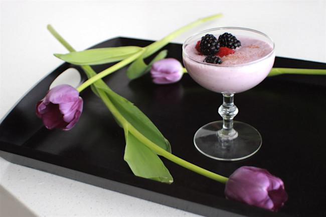 Blackberry raspberry banana milkshake recipe