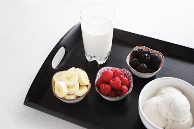 Boozy banana berry milkshake recipe