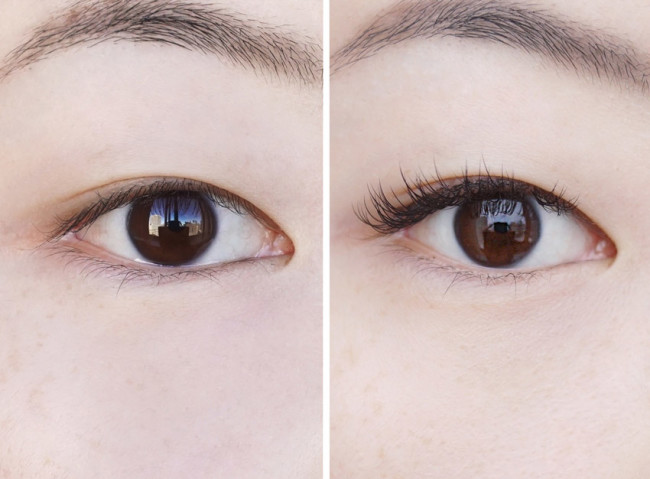 Lash extensions before and after asian eyelashes