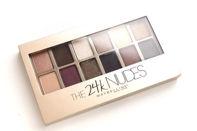 Maybelline eyeshadow palette the 24k nudes
