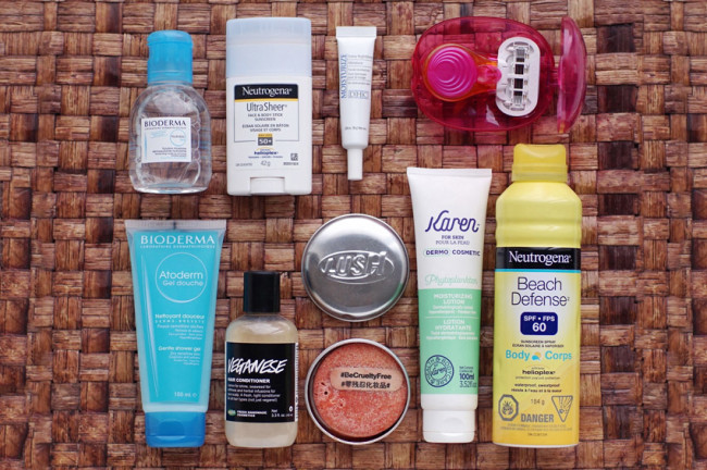 Travel-sized beauty essentials