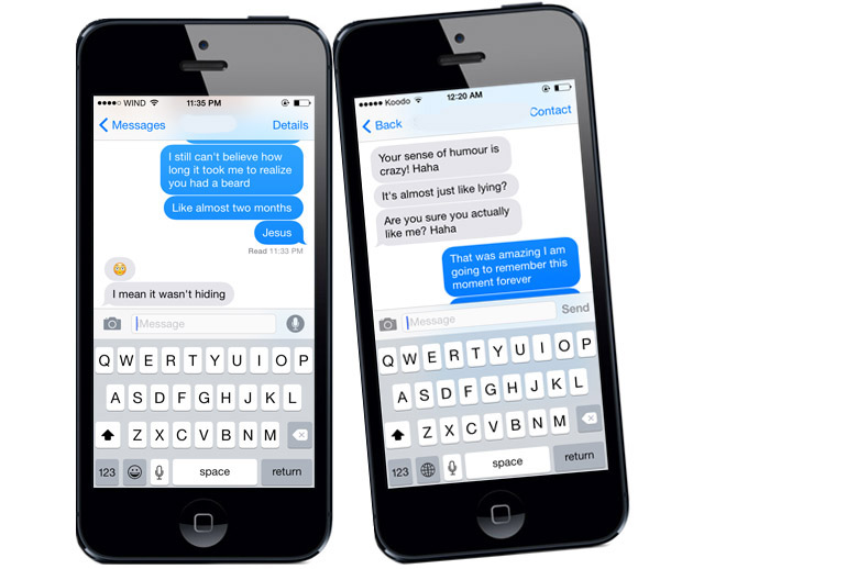 Online dating offers text tips