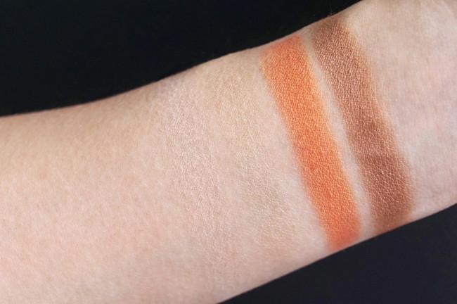 Clarins summer 2017 sunkissed eyeshadow palette quartet swatches review photos