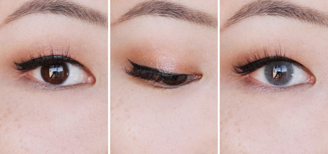 Clarins Sunkissed eyeshadow quad makeup look