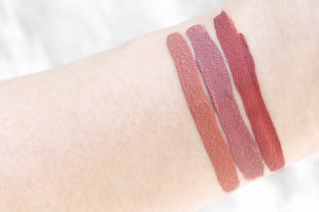 Make Up For Ever Artist Liquid Matte swatches 103, 105, 109