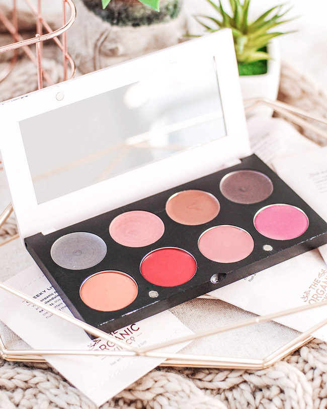 The Organic Skin Co. palette review swatches photos